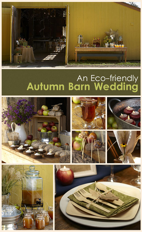 An Eco-friendly Autumn Green Wedding
