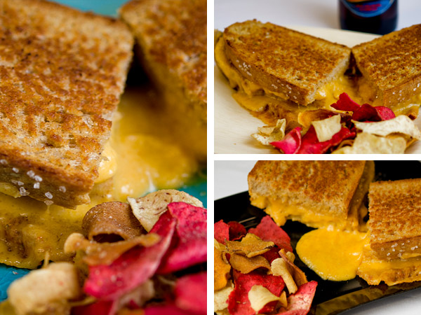 Grilled Beer-Cheese Sandwiches