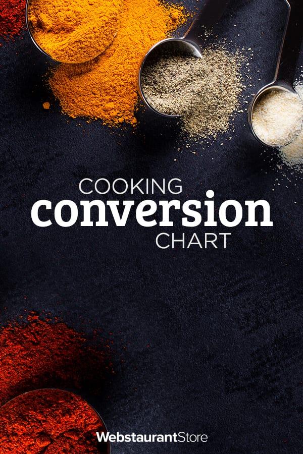 Cooking Conversion Chart Recipe Measurement Conversion Chart