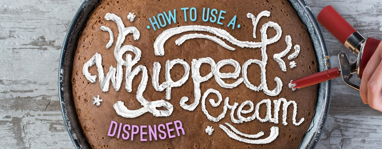 How To Use A Whipped Cream Dispenser Webstaurantstore