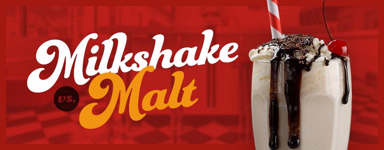 Milkshake vs  Malt   Difference Between Malt and Milkshake