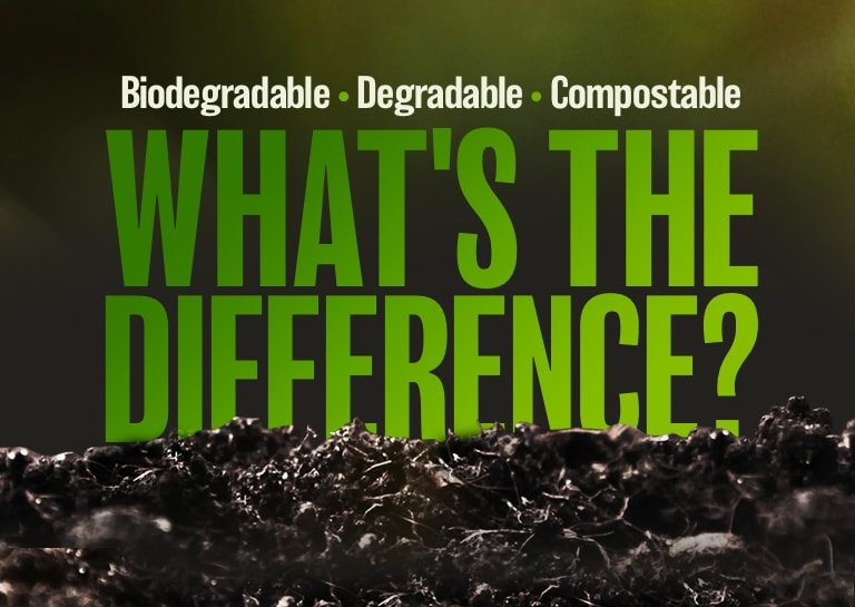 the difference between biodegradable  compostable