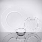 10 Strawberry Street Hammered Glass Dinnerware