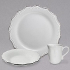 10 Strawberry Street Oxford White Stoneware Dinnerware