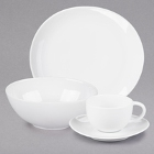 10 Strawberry Street Royal Oval White Porcelain Dinnerware