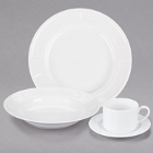 10 Strawberry Street Sorrento White Porcelain Dinnerware