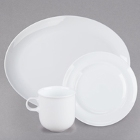 10 Strawberry Street Taverno White Porcelain Dinnerware