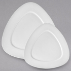 10 Strawberry Street White Triangle Porcelain Dinnerware