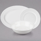 10 Strawberry Street Bistro Bright White Porcelain Dinnerware