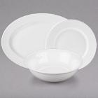 10 Strawberry Street Bistro Bright White Porcelain Dinnerware