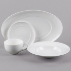 10 Strawberry Street Ricard White Porcelain Dinnerware