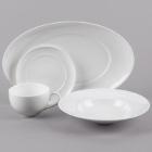 10 Strawberry Street Ricard White Porcelain Dinnerware