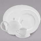 10 Strawberry Street Royal White Porcelain Dinnerware