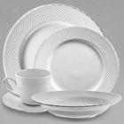 10 Strawberry Street White Wicker Porcelain Dinnerware