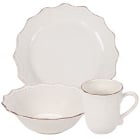 10 Strawberry Street Oxford Cream Stoneware Dinnerware