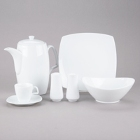 10 Strawberry Street Aurora Square White Porcelain Dinnerware