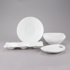10 Strawberry Street Dimple White Porcelain Dinnerware