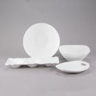 10 Strawberry Street Dimple White Porcelain Dinnerware