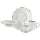 10 Strawberry Street Gold Line Porcelain Dinnerware