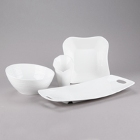 10 Strawberry Street Highland White Porcelain Dinnerware
