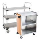 Three Shelf Solid Metal Bussing / Utility / Transport Carts