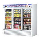 3 Section Glass Door Merchandising Freezers