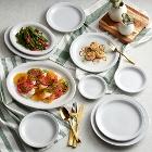 Acopa Bright White Narrow Rim Stoneware Dinnerware