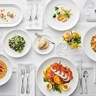 Acopa Liana Bright White Porcelain Dinnerware