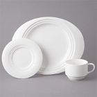 Bon Chef Concentrics White Porcelain Dinnerware