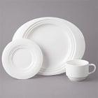 Bon Chef Concentrics White Porcelain Dinnerware