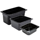 Black High Temperature Plastic Food Pans & Lids