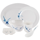 Blue Bamboo Melamine Dinnerware