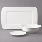 Bon Chef Circles White Porcelain Dinnerware