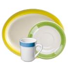 CAC Rainbow Stoneware Dinnerware