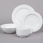 Cardinal Candour White Porcelain Dinnerware