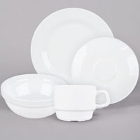 Cardinal Intensity White Porcelain Dinnerware