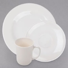 Arcoroc Opal Reception Ivory (American White) China Dinnerware by Arc Cardinal