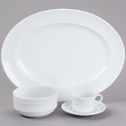 Arcoroc Rondo White Porcelain Dinnerware by Arc Cardinal