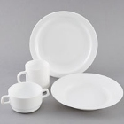 Cardinal Restaurant White Glass Dinnerware