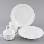 Arcoroc Restaurant White Glass Dinnerware by Arc Cardinal