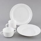 Cardinal Restaurant White Glass Dinnerware