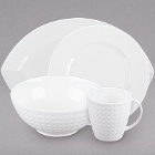 Chef & Sommelier Satinique White Porcelain Dinnerware by Arc Cardinal