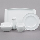 Arcoroc Vintage White Porcelain Dinnerware by Arc Cardinal