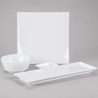 Thunder Group Classic White Melamine Dinnerware