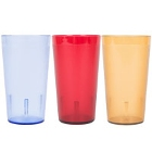 Colored Pebbled Plastic Tumblers