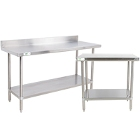 Commercial Work Tables with Undershelf - 16 Gauge Standard Top