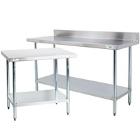 Commercial Work Tables with Undershelf - 18 Gauge Economy Top