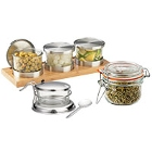 Condiment Jars and Jar Holders
