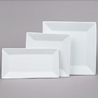 Core Bright White Square and Rectangular Porcelain Dinnerware