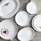 Acopa Bright White Coupe Stoneware Dinnerware